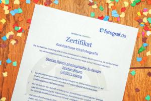 Zertifikat kontaklose Kindergartenfotografie